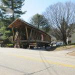 The bridge sits at the junction of Center Street and Route 316.  Route 316 could not be shut down until 6pm 3/30/2012