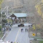 At 6pm, 3/30/2012, the bridge moves out onto Route 316