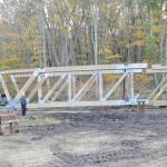 Its 10/20/2011 and the third piece of the main bridge structure is united to the first two sections.